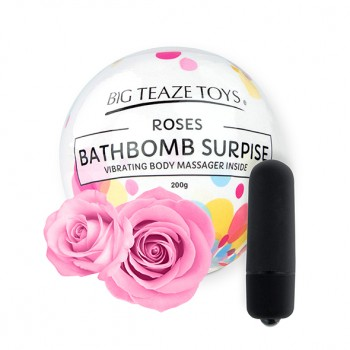 Big Teaze Toys - Bath Bomb Surprise with Vibrating Body Massager Rose