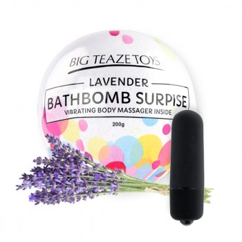 Big Teaze Toys - Bath Bomb Surprise with Vibrating Body Massager Lavender
