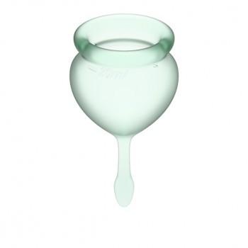 Satisfyer - Feel Good Menstrual Cup Set Light Green