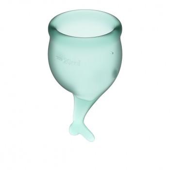 Satisfyer - Feel Secure Menstrual Cup Set Dark Green