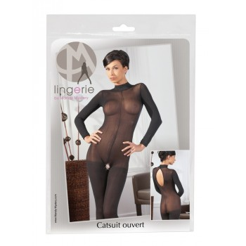 Catsuit with Lace Collar S/M