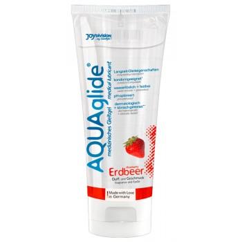 AQUAAgilde lubrikants Zemene (100 ml.) - AQUAglide strawberry 100 ml