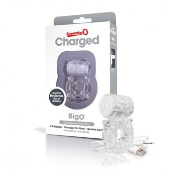 Dzimumlocekļa gredzens Charged Big O (caurspīdīgs) - The Screaming O - Charged Big O Clear