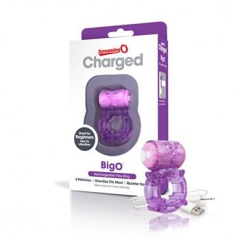 Dzimumlocekļa gredzens Charged Big O (violets) - The Screaming O - Charged Big O Purple