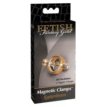 Krūšu klipši Magnētiski Zelta Fetish Fantasy Gold