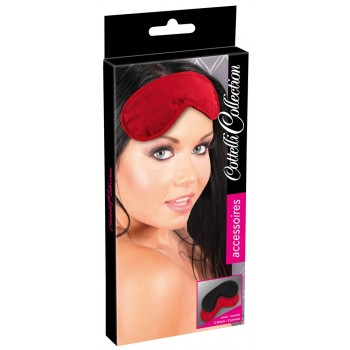 Blindfold Set pack of 2 red/bl