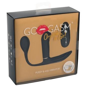 Vibrators Pussy & Ass Vibe (melns) - GoGasm Pussy & Ass Vibrator bl