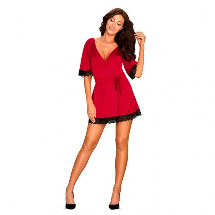 Obsessive - Sensuelia Robe Red XXL - Obsessive