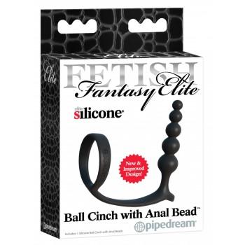 FFE Ball Cinch w Anal Bead Bla